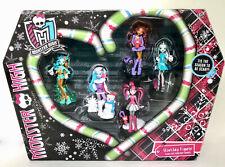 NIB Monster High HOWLIDAY Figures Set Of 5 Christmas Holiday Figures Gift Set