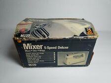 Vintage 1986 Black & Decker Handheld Mixer 5 Speed Model M22D open box complete