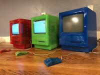 MacEffects Prototype LOT of 3 Apple Macintosh Mac SE not SE/30 COLORS like iMac