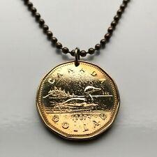 1987 Canada Dollar coin pendant Canadian LOON duck goose Ottawa Montreal 001229