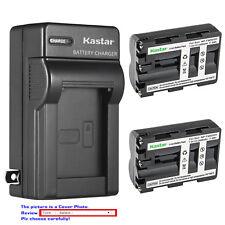 Kastar Battery Wall Charger for Sony NP-FM500H & Sony DSLR-A300 ¦Á300 Alpha A300