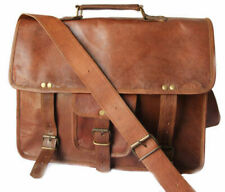 New Leather Messenger Briefcase Shoulder Bag Handmade for Men's and Women's