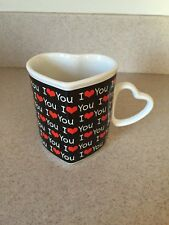 I LOVE YOU Cup Heart shaped Papel Freelance Unique Collectible Mug Glass