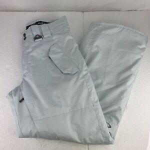 Men's Oakley Waterproof Winter Snow Board Ski Pants Size Small S White Gray