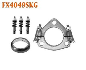 """FX4049SKG 2 1/4"""" ID Triangle Exhaust Split Flange Kit For 2"""" OD Flared Y Pipe"""
