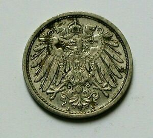 1914A GERMANY Empire Coin - 10 Pfennig - toned & dirty