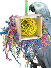 1795 BONKA BIRD TOYS BALSA BOX parrot cage toy african grey cockatoo amazon