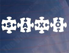 SAXO JIGSAW Novelty Citroen Car/Window/Bumper Stickers/Decals - Various Colours