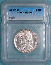 1937-D MS-64 Daniel Boone Classic Commemorative Silver Half 2,506 Minted