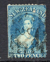 New Zealand Early 2 Pence Chalon Head Stamp Used (2949)