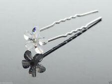 1 lot de 2 épingles à chignon petite fleur effet cristal accessoire cheveux