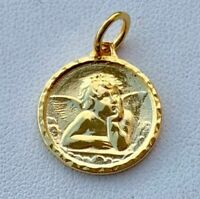 Vintage 925 Sterling Silver Angel Charms Pendant Gift U.S.