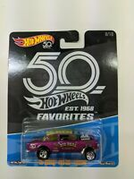 Hot Wheels 50th Favorites Exclusive - Hot Pink 55 Chevy Bel Air Gasser
