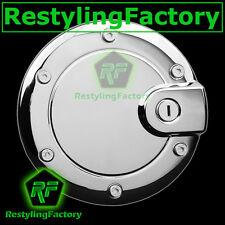 Triple Chrome Plated ABS Gas Fuel Tank Door Cover For 02-07 Jeep Liberty