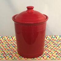 Fiestaware Scarlet Large Canister Fiesta Red 3 Quart Kitchen Crock