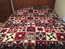 "L.L.Bean 8'6"" X 6' Blanket/Bed Spread Americana, Red/White/Blue"