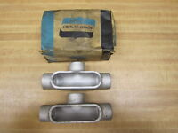 """Crouse & Hinds T 37 Conduit Bodies Size 1"""" (Pack of 2)"""