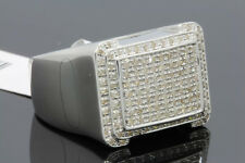 .65 CARAT MENS WHITE GOLD FINISH GENUINE DIAMOND ENGAGEMENT WEDDING PINKY RING