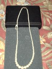 PEARL NECKLACE  OVER 90 PEARLS  5mm-2mm-  new 18 inch