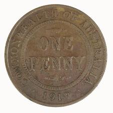 "Australia 1919 ""Double Dot"" Penny Coin aF VERY SCARCE"