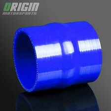 "BLUE 3"" To 3"" TURBO INTERCOOLER SILICONE Straight Hump Hose Pipe Coupler 3PLY"