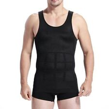 Sweat Men' T-Shirt Body Shaper Vest ABS Abdomen Slimming Compression Fitness Gym