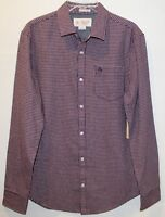 Penguin by Munsingwear Red Checks Flannel Slim Fit Button-Front Shirt NWT Size M