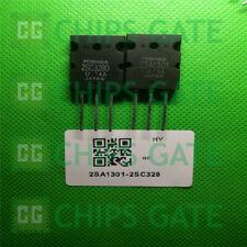 2SA1301 2SC3280 Transistor PNP NPN 160V 12A TO-3P Inchange RoHS Lot de 2