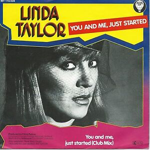 """Linda Taylor - You And Me, Just Started (7"""" Blow-Up Single-Schallplatte 1982)"""