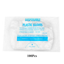 100pcs Clear Anti-Virus Disposable Protective Gloves Food Home Service Cleaning