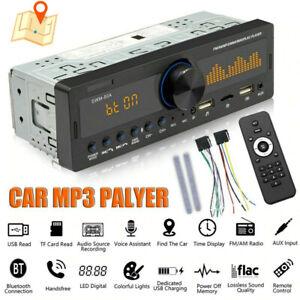 USB TF MP3 Radio Player Bluetooth Car Stereo Audio In-Dash FM Aux Input Receiver