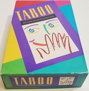 Vintage Milton Bradley Taboo The Game of Unspeakable Fun 1989 Complete