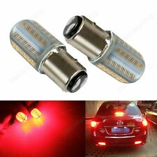2x 380 P21/5W BAY15d Bulb COB LED Indicator Sidelight Tail Stop Brake Light Red