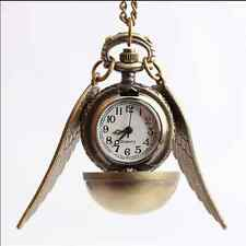 Pocket Watch Steampunk Pendant Necklace Quidditch Wings Harry Potter Snitch D~2