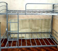 Home Suite Double Deck Bunk Bed Frame Full Size Single Steel Gray Color ~ryokan