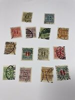 Denmark Newspaper Stamps P 1-8, 11, 13-15, 19, 20 Free US Shipping $85+ SCV