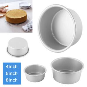 4/6/8 Inch Kitchen Aluminum Alloy Round Bottom / Base Cake Pan Baking Tin Pan UK