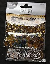21st Cumpleaños Confeti Decorativo Para Mesas SPRINKLE Negro Plata Oro 21 AÑOS