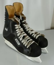 Mens Bauer 68 Hockey Ice Skates ICM Steel Blades Made in Canada Size 10