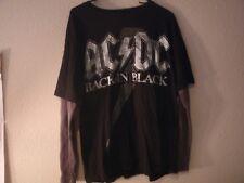 ACDC - Back In Black - X - Large Long Sleeve Gray & Black T- Shirt / VG+/ Rock