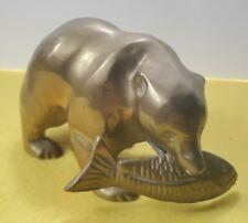 Vintage Solid Brass Figurine Vintage Brass Statue Solid Brass Bear Figurine
