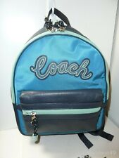 NWT Coach F76647 Vale medium Charlie Backpack - Cerulean Blue Multi
