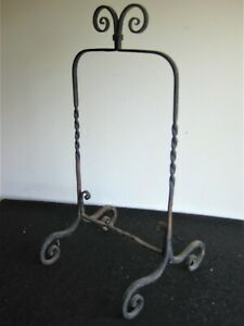 ANTIQUE HAND FORGED HEARTH COOKING UTENSIL HOLDER ??~GREAT FORM & EXECUTION