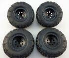 Set of 4 RC Model Raptor Truck Tires on Rims