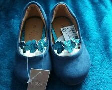 Next young girl blue suede Mary Jane shoes - Size 3/19