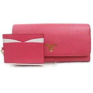 Prada Long Wallet  Pinks Leather 1512398
