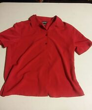 039 Women's Red Notations Clothing Company Button Front Shirt Medium