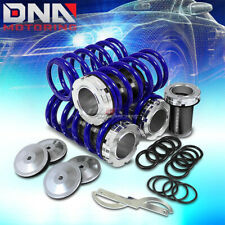 "FRONT+REAR ALUMINUM 1-4"" SCALED COILOVER SPRING KIT FOR 95-99 MAXIMA A32 BLUE"