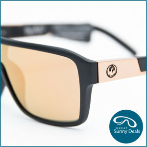 NEW Dragon The Jam Remix Matte Black Rose Gold Ion (42001 037) Sunglasses
