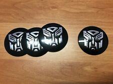 transformers logo adesivo cerchi in lega auto cromato stemma set 4 sticker neri
